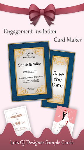 Engagement Invitation Card Maker App Report On Mobile Action