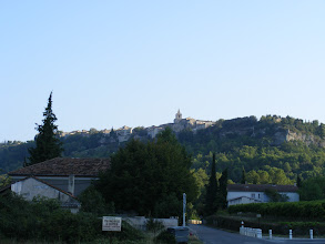 Photo: And we return to home in Venasque, here with the same first view of the village that we had on our arrival.