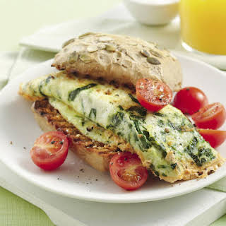 Spinach and Ricotta Egg White Sandwich.