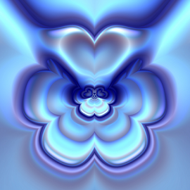 Wings, Heart, Flower by Cassy 67 - Illustration Abstract & Patterns ( love, digital art, fractal art, power, fractal, light, digital, fractals, energy )