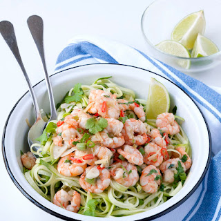 Thai Style Prawns with Zoodles.