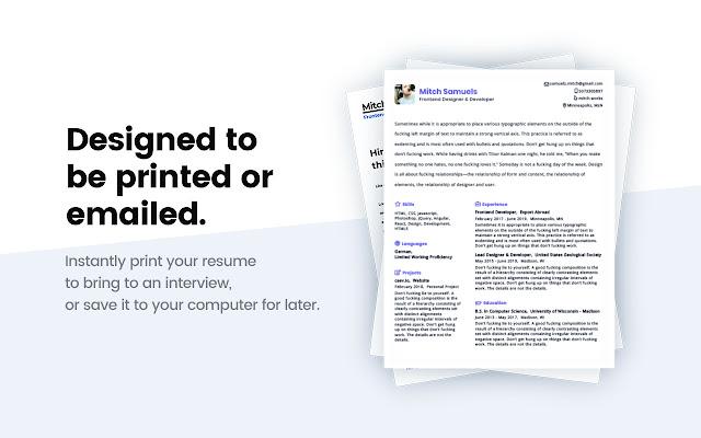 Ceev - Linkedin Resume Creator - Chrome Web Store