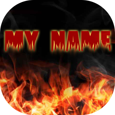 My Name Fire Live Wallpaper