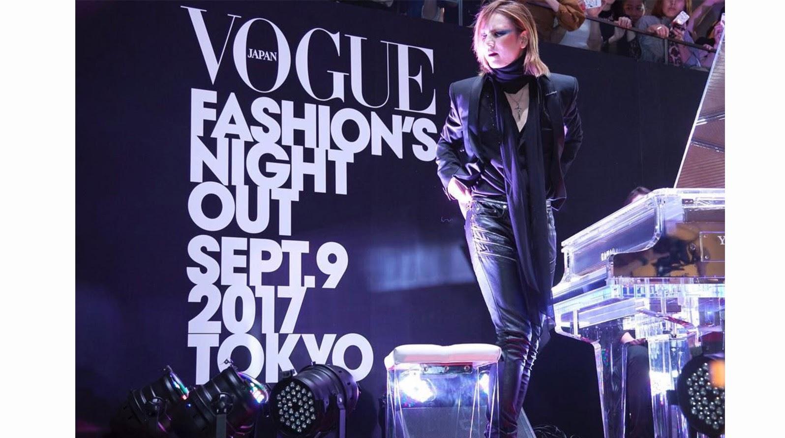 YOSHIKI參加VOGUE fashion show「FASHION'S NIGHT OUT」擔任開幕佳賓