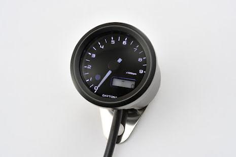 DAYTONA digital tachometer VELONA, black, Ø 48mm, 9.000 RPM