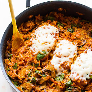 One Skillet Chicken Parmesan With Orzo
