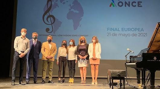 Laura Diepstraten presenta su tema para la Eurovisión de artistas ciegos