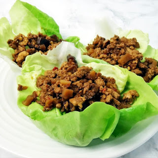 Healthy Asian Style Chicken Lettuce Wraps.