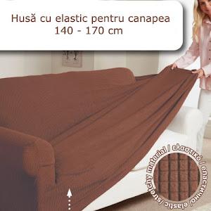 Husa cu elastic pentru canapea, lungime 140-170 cm