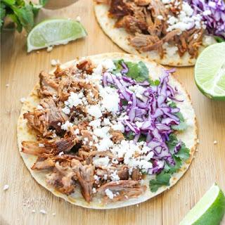 Slow Cooker Pulled Pork Tacos.