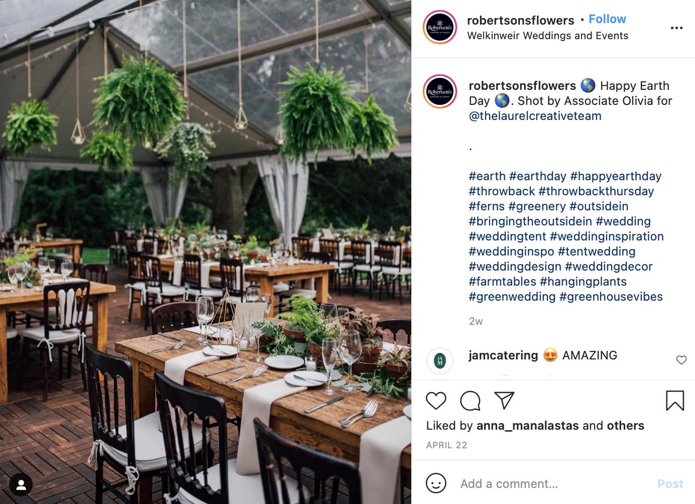 earthy wedding reception table