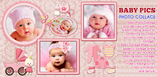 baby collage name card pics photo frames apps on google play