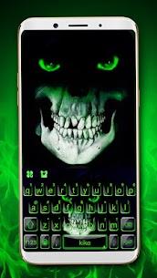 Green Horror Devil Keyboard -flaming skull 1.0 Unlocked MOD APK Android 1