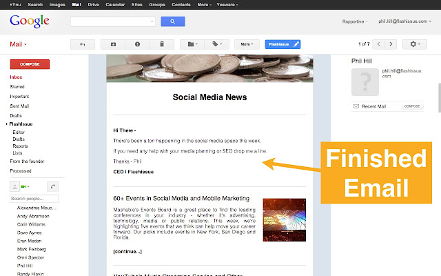 gmail email marketing newsletter creator chrome web store