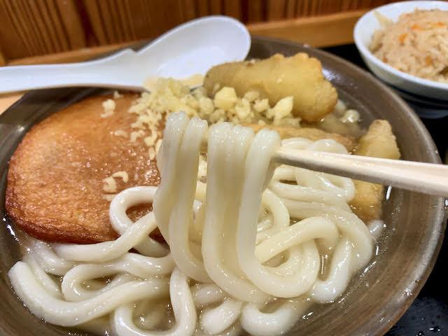 牧のうどんの軟麺