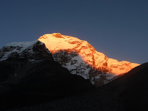 Photo: Chamlang (7319m) by sunset