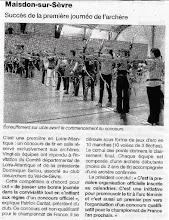 Photo: 17/12/12 Ouest France : Journée de l'archère