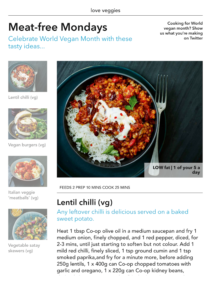 Co-op Food magazine- screenshot