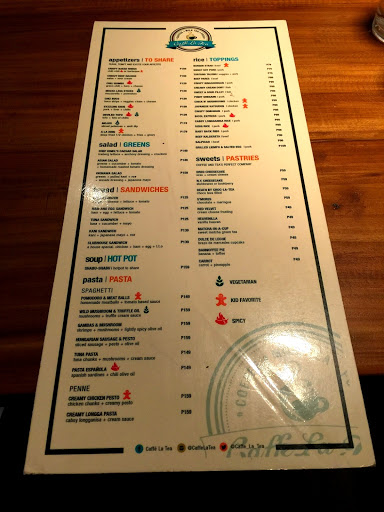 Caffe La Tea Menu