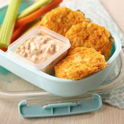 Sweet Potato Cakes with Chipotle Ranch Dip