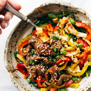 Korean BBQ Steak Bowls with Spicy Sesame Dressing