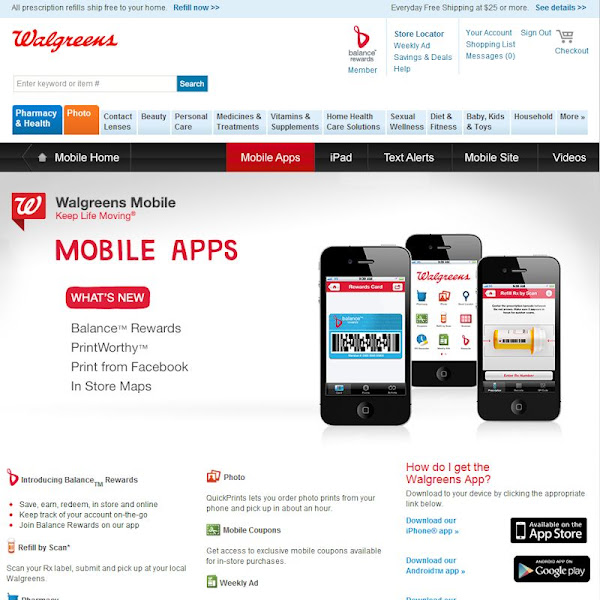 Photo: After linking my account to the Balance Rewards system I found the Walgreens app to download on my iPhone.