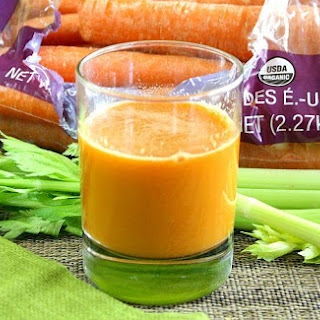 Carrot Apple and Celery Juice (Raw, Vegan, Gluten-Free, Dairy-Free, Paleo-Friendly)