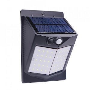 Set 4 x Lampa solara 80 LED, senzor miscare, 500 LM