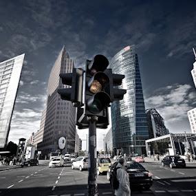 Berlin - Potsdamer Platz by Steve Struttmann - City,  Street & Park  Street Scenes (  )