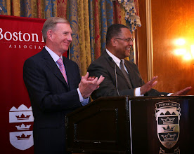 Photo: Chief Justice Ireland joined BBA President Paul Dacier onstage to the sound of overwhelming applause.