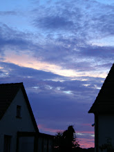 Photo: Sunset from home July 6th 2012 - about an hour after I was home from work (21.30) - this intense red and purple only lasted a few minutes. More rain clouds are moving in - with a chance of another thunderstorm?!