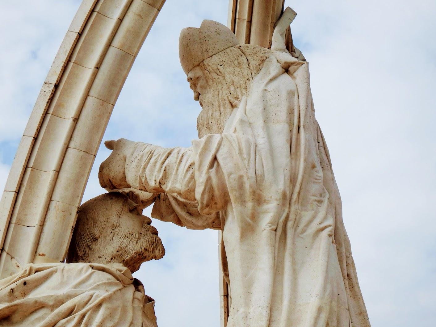 Esztergom - Szent István megkoronázása a vár északi rondelláján