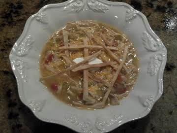 Chicken Tortilla Soup or Tortilla Chile Soup