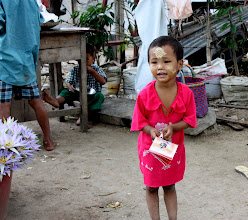 Photo: Year 2 Day 55 -  Young Girl with Thanakha Make Up