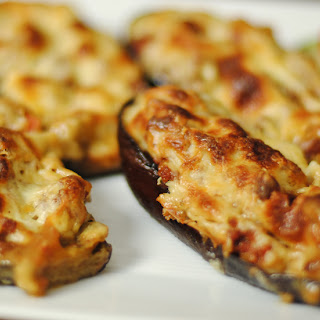 Papoutsakia Melitzanes (Stuffed Eggplant)