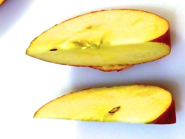 APPLE FILLING:For each of apples, I cut each in half, then I cut in...