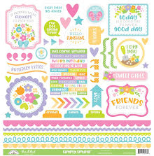 Doodlebug Cardstock Stickers 12X12 Simply Spring - This & That