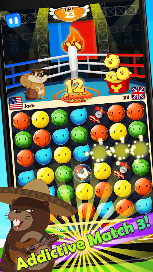 Yolo Rush - Match 3 Battles- screenshot