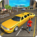 Limo Taxi Driver Simulator : City Car Driving Game icon