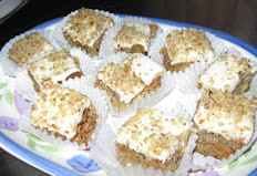 Mini Carrot Cake Squares with Cream Cheese Frosting