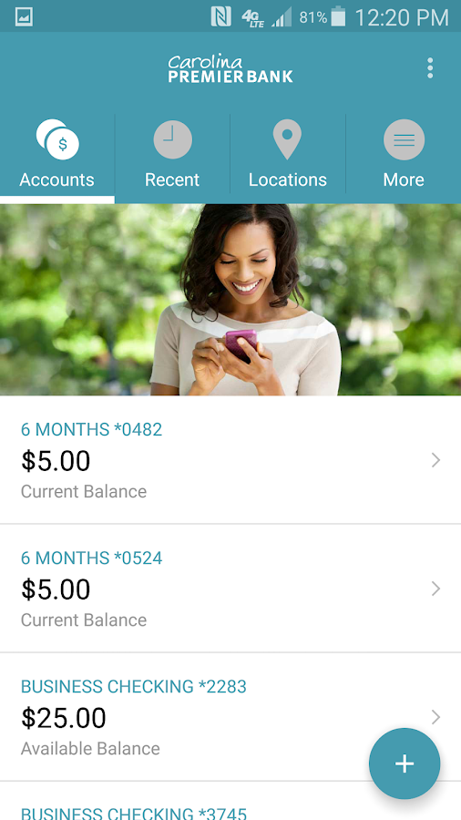 Carolina Premier Bank Mobile- screenshot