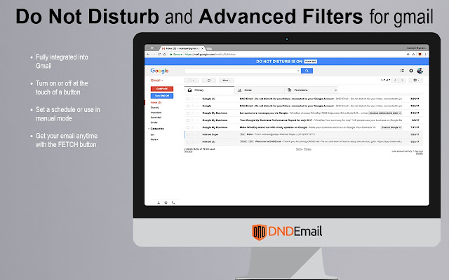 Do Not Disturb for Gmail