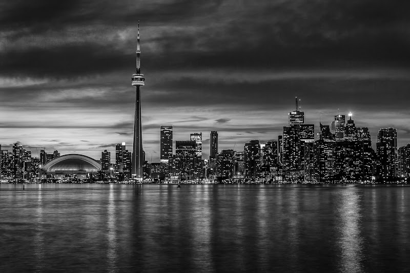 Photo: Toronto Noir +Ian Thomasmade me do it! :) Last night Ian posted his Toronto skyline shot taking during our #torontophotowalk in B&W and it blew my socks off. I didn't think of even trying that technique so here is my take on the monochrome city line. This is the same shot I posted in this album before but this time used Silver Efex Pro.