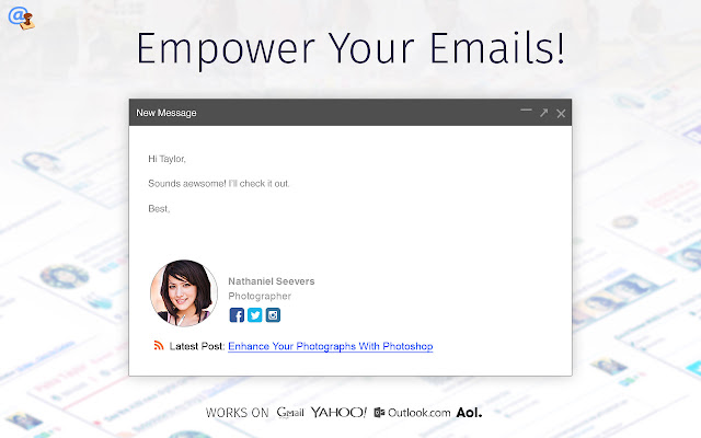 Add Email Signature - WiseStamp - Chrome Web Store