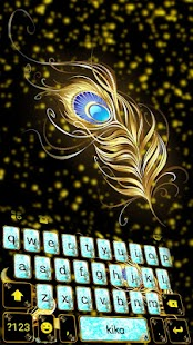 Glitter Peacock Keyboard Theme - náhled