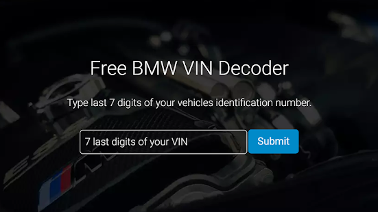 Bimmer Vin Decoder For Bmw For Pc Windows 7 8 10 Mac Free Download Guide