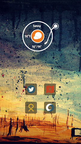 android Abstract Aesthetic Art theme Screenshot 1