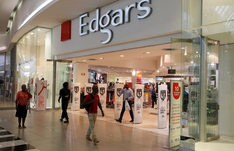 Edcon, of which Edgars was a subsidiary, was put in business rescue, with 120 Edgars stores being sold. Picture: REUTERS/SIPHIWE SIBEKO