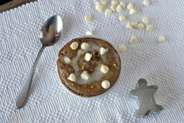 ... Cranberry White Chocolate Gingerbread Mug Cake with a Lemon Glaze