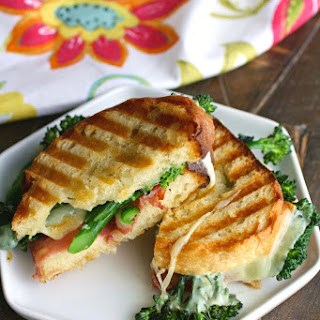 Broccolini, Salami and Provolone Panini